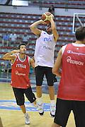 Sassari 14 Agosto 2012 - Qualificazioni Eurobasket 2013 -Allenamento<br /> Nella Foto : DANIELE CAVALIERO<br /> Foto Ciamillo