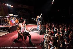 Jeff Worley on guitar during the Jackyl free concert at Destination Daytona during Biketoberfest, Ormond Beach, FL, October 18, 2014, photographed by Michael Lichter. ©2014 Michael Lichter