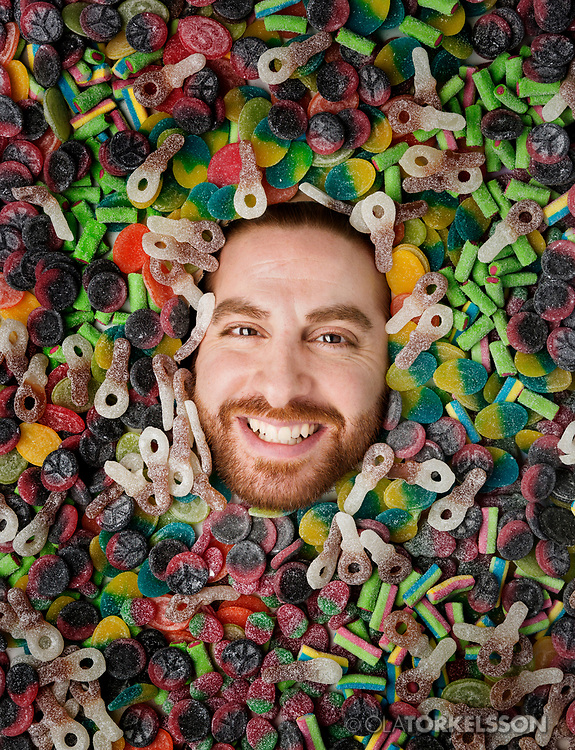 Portrait of the candy maker Jacob Youssef, CEO Candy People.<br /> Photo Ola Torkelsson <br /> Copyright Ola Torkelsson ©