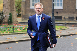 © Licensed to London News Pictures. 10/11/2020. London, UK. Secretary of State for Transport Grant Shapps arrives on Downing Street for the cabinet meeting. A second national lockdown is now in place to slow the spread of Coronavirus and is expected to last until 2 December 2020. Photo credit: Rob Pinney/LNP