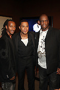 l to r: Lil' Doc, Maxwell and Dwight Gooden at the Maxwell Press conference announcing his first new album in eight years, ' BLACKsummers'night,'  held at The Sony Club on April 28, 2009 in New York City