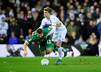 Sheffield Wednesday's Julian Borner is fouled by Leeds United's Patrick Bamford<br /> <br /> Photographer Chris Vaughan/CameraSport<br /> <br /> The EFL Sky Bet Championship - Leeds United v Sheffield Wednesday - Saturday 11th January 2020 - Elland Road - Leeds<br /> <br /> World Copyright © 2020 CameraSport. All rights reserved. 43 Linden Ave. Countesthorpe. Leicester. England. LE8 5PG - Tel: +44 (0) 116 277 4147 - admin@camerasport.com - www.camerasport.com