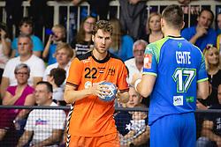25-10-2019 SLO: Slovenia - Netherlands, Ormoz<br /> Jasper Adams of Nederland during friendly handball match between Slovenia and Nederland, on October 25, 2019 in Sportna dvorana Hardek, Ormoz, Slovenia.