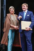 Nieuwjaarsreceptie van koning Willem-Alexander en koningin Maxima in het Paleis op de Dam voor de Nederlandse genodigden<br /> <br /> New Year's Reception of King Willem-Alexander and Maxima Queen in the Royal Palace for the Dutch guests<br /> <br /> Op de foto / On the photo:  King Willem Alexander and Queen Maxima