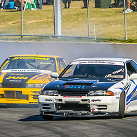 Adam Trewhella (Nissan Skyline) and James Eames (Nissan Silvia) during a drfit demonstration at the WA Sporting Car Clubs 2006 Winter Classic.