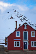 Information centre and museum at the international scientific research base of Ny Alesund, Svalbard.
