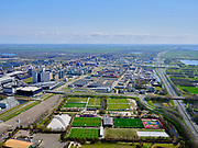 Nederland, Noord-Holland, Duivendrecht; 17-04-2021; Zicht op Amsterdam-Zuidoost en de Arena. Sportpark De Toekomst.<br /> View of Amsterdam-Zuidoost and the Arena. Sports Park De Toekomst.<br /> <br /> luchtfoto (toeslag op standaard tarieven);<br /> aerial photo (additional fee required)<br /> copyright © 2021 foto/photo Siebe Swart