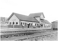 """D&RGW Durango depot as viewed from the northwest in the 1960's.<br /> D&RGW  Durango, CO  1964<br /> In book """"Durango: Always a Railroad Town (1st ed.)"""" page 170"""