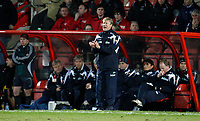 Photo: Richard Lane/Richard Lane Photography. <br />Wales v Norway. Nationwide International. 06/02/2008. <br />Norway's Age Hareide ties to get his players moving.