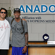 Turkish Basketball team Anadolu Efes's Sasha Vujacic (L) and Tarence Kinsey (R) during their medical control in Istanbul Turkey on Saturday 20 August 2011. Photo by TURKPIX