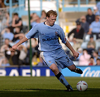 Photo. Glyn Thomas. <br /> Coventry City v Brighton and Hove Albion. <br /> Coca Cola Championship. 02/04/2005.<br /> Coventry's Steve Staunton, who scored his team's winning goal.
