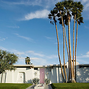 Palm Springs, CA is known for its mid-century modern architecture and examples of it are found throughout the city's neighborhoods. This private residence is located in Canyon Estates and backs up to the golf course. ..