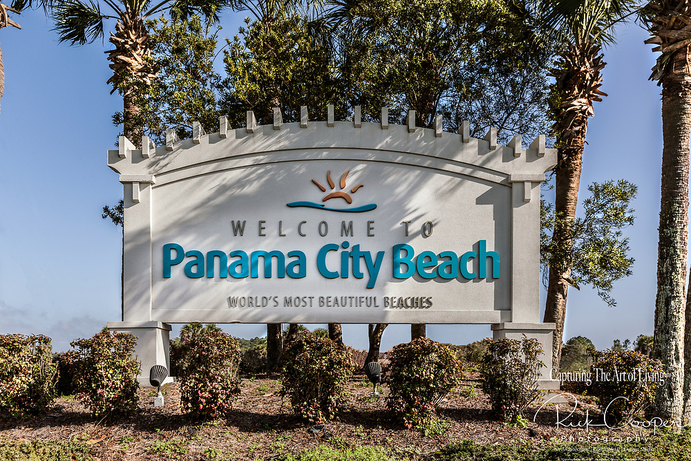 Welcome Sign In Panama City Beach, Florida