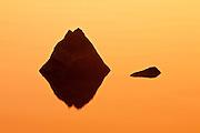 Rock reflection on Paudash Lake<br /> Paudash Lake<br /> Ontario<br /> Canada
