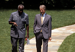 May 18, 1978; Washington, DC, USA; President of the Republic of Zambia KENNETH D. KAUNDA meets with U.S. President JIMMY CARTER (R) in Washington.  (Credit Image: © Arthur Grace/ZUMAPRESS.com)