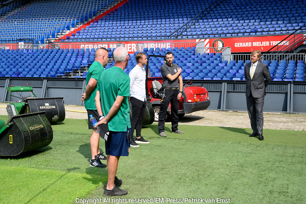ROTTERDAM, 16-6-2020 . Koning Willem Alexander tijdens een werkbezoek gebracht aan De Kuip in Rotterdam in het kader van de impact van de coronapandemie op de evenementenbranche