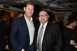 Left to right, NEIL READING and JONATHAN SHALIT at a party hosted by Fred Sirieix, Maître d' on Channel 4's 'First Dates' at his favourite Spanish restaurant, El Pirata, 5-6 Down Street, London to celebrate the publication of his new book 'First Dates: The Art of Love' on 10th October 2016.