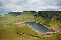 Picws Du and Llyn Y Fan Fach Reservoir, Black mountain, Brecon Beacons national park, Wales