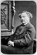 Alexandre Dumas the Younger (1824-1895) in 1884. French writer. His novel 'La dame aux camelias' (1848) was the basic story for Verdi's opera 'La Traviata'. Photograph by Fontaine.