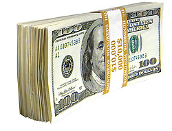 Stack of American money