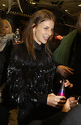 Liberty Ross, ( ?) Stephen Jones exhibition to celebrate 25 years in business, private view & reception. Dover Street Market, 17-18 Dover Street, London, W1, 1 December  2005. ONE TIME USE ONLY - DO NOT ARCHIVE  © Copyright Photograph by Dafydd Jones 66 Stockwell Park Rd. London SW9 0DA Tel 020 7733 0108 www.dafjones.com