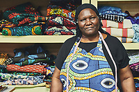 """Elizabeth, from South Sudan, is known as """"Mama,"""" or """"Grandmother,"""" to the other members of the Refugee Sewing Society, which is based in Clarkston. The group sells handmade items at local markets and online, with all proceeds going to members.<br /> <br /> The Refugee Sewing Society is a faith-based Christian non-profit that serves refugee women from around the world who find themselves starting a new life in America. Part of a documentary series on Clarkston, GA.  The most ethnically diverse square mile in America, there are over 70 nationalities that have sought refuge there since the 1980s."""