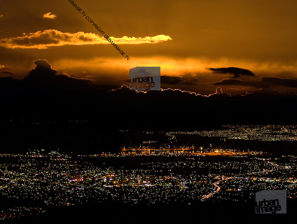 Sunset over Kingston - view from Strawberry Hill Jamaica