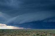 Thunderstorm (cumulonimbus) wall cloud over the Coconino Plateau,  near the Grand Canyon, ARIZONA