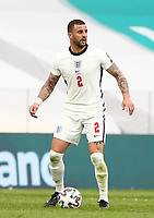 TIRANA, ALBANIA - MARCH 28: Kyle Walker of England during the FIFA World Cup 2022 Qatar qualifying match between Albania and England at the Qemal Stafa Stadium on March 28, 2021 in Tirana, Albania. Sporting stadiums around Europe remain under strict restrictions due to the Coronavirus Pandemic as Government social distancing laws prohibit fans inside venues resulting in games being played behind closed doors (Photo by MB Media)