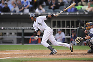 CHICAGO - SEPTEMBER 29:  Alexei Ramirez #10 of the Chicago White Sox bats during the game against the Detroit Tigers at U.S. Cellular Field in Chicago, Illinois on September 29, 2008.  The White Sox defeated the Tigers 8-2.  (Photo by Ron Vesely)