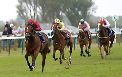 Legends of War ridden by Oisin Murphy (left) goes on to win The British Stallion Studs EBF Novice Stakes at Yarmouth Racecourse.