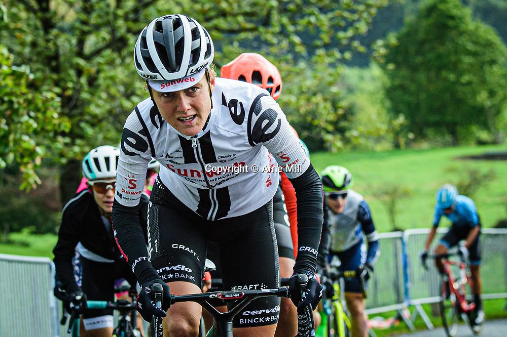 MACKAIJ Floortje ( NED ) – TEAM SUNWEB ( SUN ) - NED – Querformat - quer - horizontal - Landscape - Event/Veranstaltung: Liège Bastogne Liège - Category/Kategorie: Cycling - Road Cycling - Elite Women - Elite Men - Location/Ort: Europe – Belgium - Wallonie - Liège - Start: Bastogne-Womens Race - Liège-Mens Race - Finish: Liège - Discipline: Road Cycling - Distance: 257 km - Mens Race - 135 km - Womens Race - Date/Datum: 04.10.2020 – Sunday - Photographer: © Arne Mill - frontalvision.com