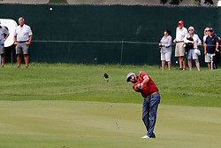 June 22, 2018 - Cromwell, CT, U.S. - CROMWELL, CT - JUNE 22: Steve Marino of the United States hits from the 9th fairway during the Second Round of the Travelers Championship on June 22, 2018, at TPC River Highlands in Cromwell, Connecticut. (Photo by Fred Kfoury III/Icon Sportswire) (Credit Image: © Fred Kfoury Iii/Icon SMI via ZUMA Press)