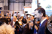 Prince Felipe attended the 33rd edition of the international Tourism fair (FITUR) in Madrid.