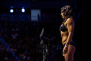 LAS VEGAS, NV - JULY 8:  Cat Zingano stands on the scale during the UFC 200 weigh-ins at T-Mobile Arena on July 8, 2016 in Las Vegas, Nevada. (Photo by Cooper Neill/Zuffa LLC/Zuffa LLC via Getty Images) *** Local Caption *** Cat Zingano