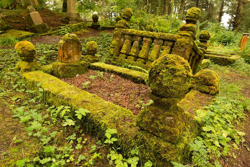 Russian Cemetery in Sitka, Alaska.
