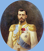 Nicholas II 1868 – 17 July 1918), last Tsar of Russia, ruled from 1894 until his abdication on 15 March 1917. Executed in July 1918. Portrait by Ilya Galkin 1898