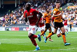 Benik Afobe of Bristol City celebrates scoring a goal to make it 1-0 - Mandatory by-line: Robbie Stephenson/JMP - 24/08/2019 - FOOTBALL - KCOM Stadium - Hull, England - Hull City v Bristol City - Sky Bet Championship