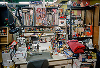 ©Tom Wagner/saba<br /> A number of Work spaces at mad House studio in Tokyo;<br /> full of personal items