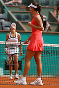Roland Garros. Paris, France. June 1st  2008..Ana IVANOVIC against Petra CETKOVSKA..Round of 16 (4th Round)...