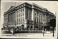 "Zagreb : Hotel Esplanade. <br /> <br /> ImpresumS. l. : S. n., [1937].<br /> Materijalni opis1 razglednica : tisak ; 9,1 x 14 cm.<br /> Vrstavizualna građa • razglednice<br /> ZbirkaZbirka razglednica • Grafička zbirka NSK<br /> Formatimage/jpeg<br /> PredmetZagreb –– Trg Ante Starčevića<br /> Hotel Esplanade (Zagreb)<br /> SignaturaRZG-STAR-7<br /> Obuhvat(vremenski)20. stoljeće<br /> NapomenaRazglednica je putovala 1937. godine. • Na poleđini razglednice ispod razdjelne linije otisnut je monogram BYK prema dr. Heinrich Byk (""Dr. Heinrich Byk, Fabrik pharmazeutischer, photographischer und technischer Produkte"").<br /> PravaJavno dobro<br /> Identifikatori000953275<br /> NBN.HRNBN: urn:nbn:hr:238:821799 <br /> <br /> Izvor: Digitalne zbirke Nacionalne i sveučilišne knjižnice u Zagrebu"