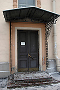 St Petersburg, Russia, 10/02/2004..Exterior of the Prince George Galitzine Memorial Library, founded in October 1994 to make available books about Russia in English and Russian which were previously banned.