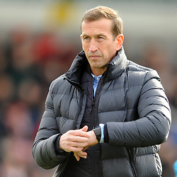 TELFORD COPYRIGHT MIKE SHERIDAN 23/3/2019 - Orient boss Justin Edinburgh during the FA Trophy Semi Final fixture between AFC Telford United and Leyton Orient at the New Bucks Head