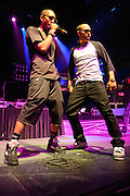 The New Boyz performing in support of Lupe Fiasco on the Generation LASER Tour 2011 at the Chaifetz Arena on September 29, 2011. Photo by Todd Owyoung.