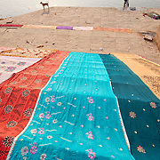 Clothes washed at the Ganges river
