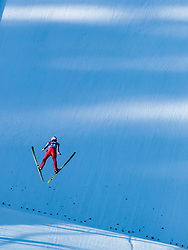 31.12.2017, Olympiaschanze, Garmisch Partenkirchen, GER, FIS Weltcup Ski Sprung, Vierschanzentournee, Garmisch Partenkirchen, Qualifikation, im Bild Stefan Kraft (AUT) // Stefan Kraft of Austria during his Qualification Jump for the Four Hills Tournament of FIS Ski Jumping World Cup at the Olympiaschanze in Garmisch Partenkirchen, Germany on 2017/12/31. EXPA Pictures © 2018, PhotoCredit: EXPA/ JFK