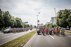 Peloton in Ljubljana during Stage 2 of 24th Tour of Slovenia 2017 / Tour de Slovenie from Ljubljana to Ljubljana (169,9 km) cycling race on June 16, 2017 in Slovenia. Photo by Vid Ponikvar / Sportida
