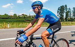 05.07.2017, Altheim, AUT, Ö-Tour, Österreich Radrundfahrt 2017, 3. Etappe von Wieselburg nach Altheim (226,2km), im Bild Sergey Firsanov (RUS, Gazprom - Rusvelo) // Sergey Firsanov (RUS, Gazprom - Rusvelo) during the 3rd stage from Wieselburg to Altheim (199,6km) of 2017 Tour of Austria. Altheim, Austria on 2017/07/05. EXPA Pictures © 2017, PhotoCredit: EXPA/ JFK