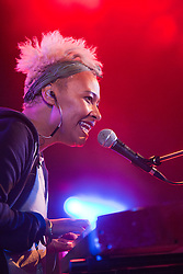 Emeli Sandé plays in the Rock n Roll Circus tent, Rockness, Saturday, 11th June 2011..RockNess 2011, the annual music festival which takes place in Scotland at Clune Farm, Dores, on the banks of Loch Ness near Inverness..Pic ©2011 Michael Schofield. All Rights Reserved..