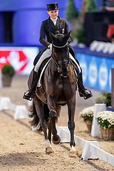 SKARSOE Fie Christine (LUX), So Dark<br /> München - Munich Indoors 2019<br /> Preis der Liselott und Klaus Rheinberger Stiftung<br /> Grand Prix de Dressage (CDI4*) <br /> Wertungsprüfung MEGGLE Champions of Honour,<br /> Qualifikation für Kür<br /> 21. November 2019<br /> © www.sportfotos-lafrentz.de/Stefan Lafrentz
